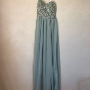 Baby Blue Gown/Dress XS Lace top